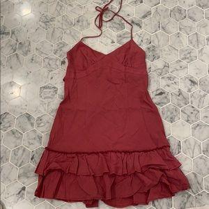 Strapped halter dress